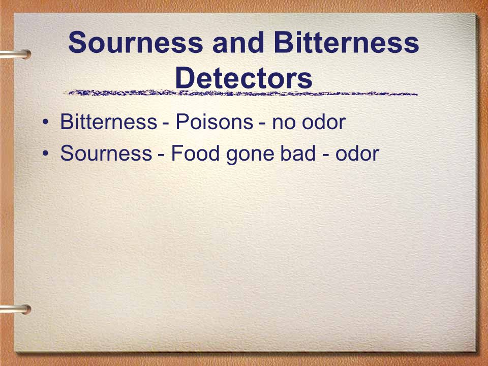 Sourness and Bitterness Detectors