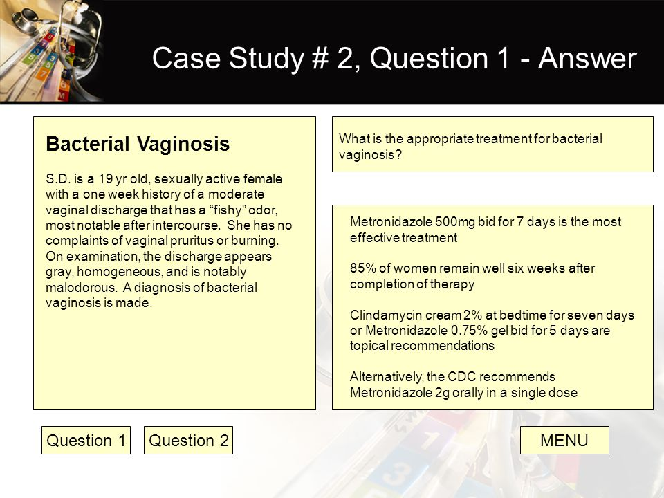 Case Study # 2, Question 1 - Answer