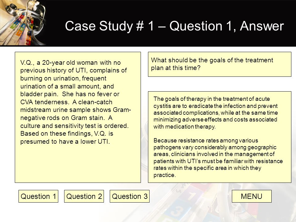 Case Study # 1 – Question 1, Answer