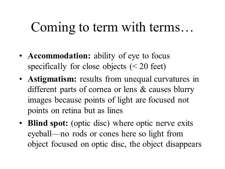 Coming to term with terms…