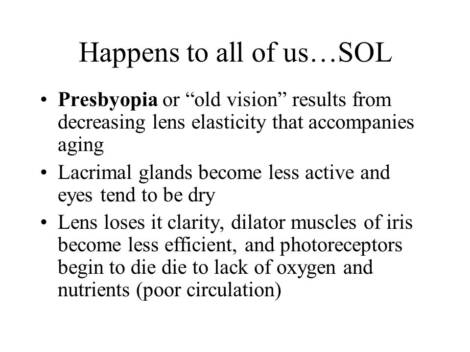 Happens to all of us…SOL