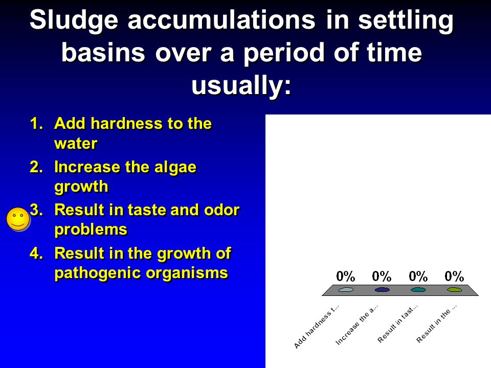 Sludge accumulations in settling basins over a period of time usually: