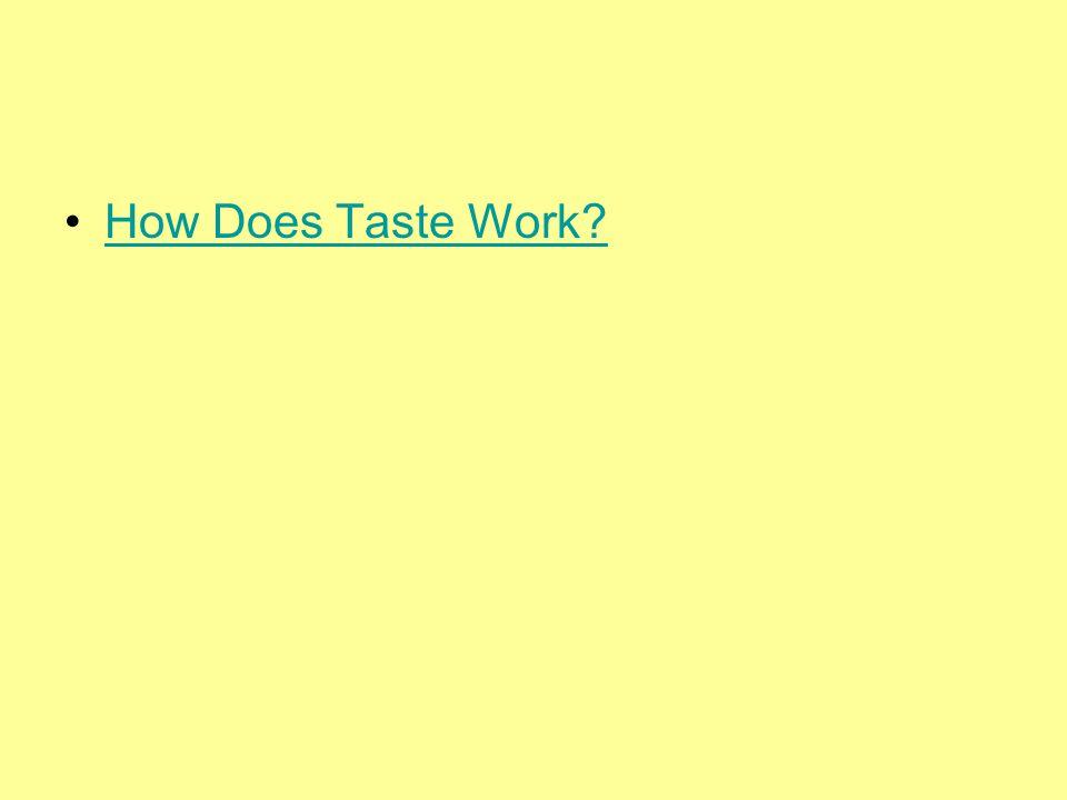 How Does Taste Work