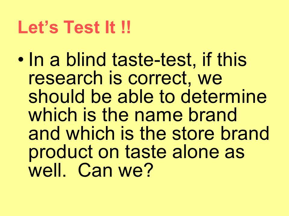Let's Test It !!