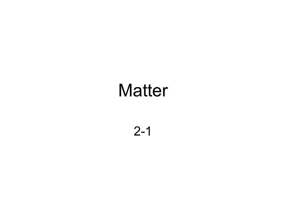 Matter 2-1