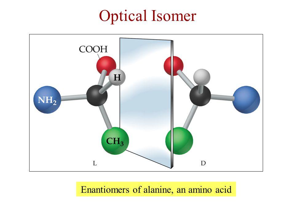 Enantiomers of alanine, an amino acid