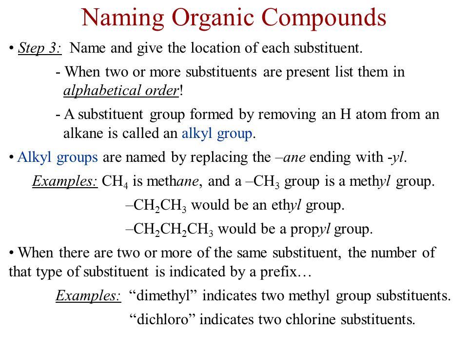 Naming Organic Compounds