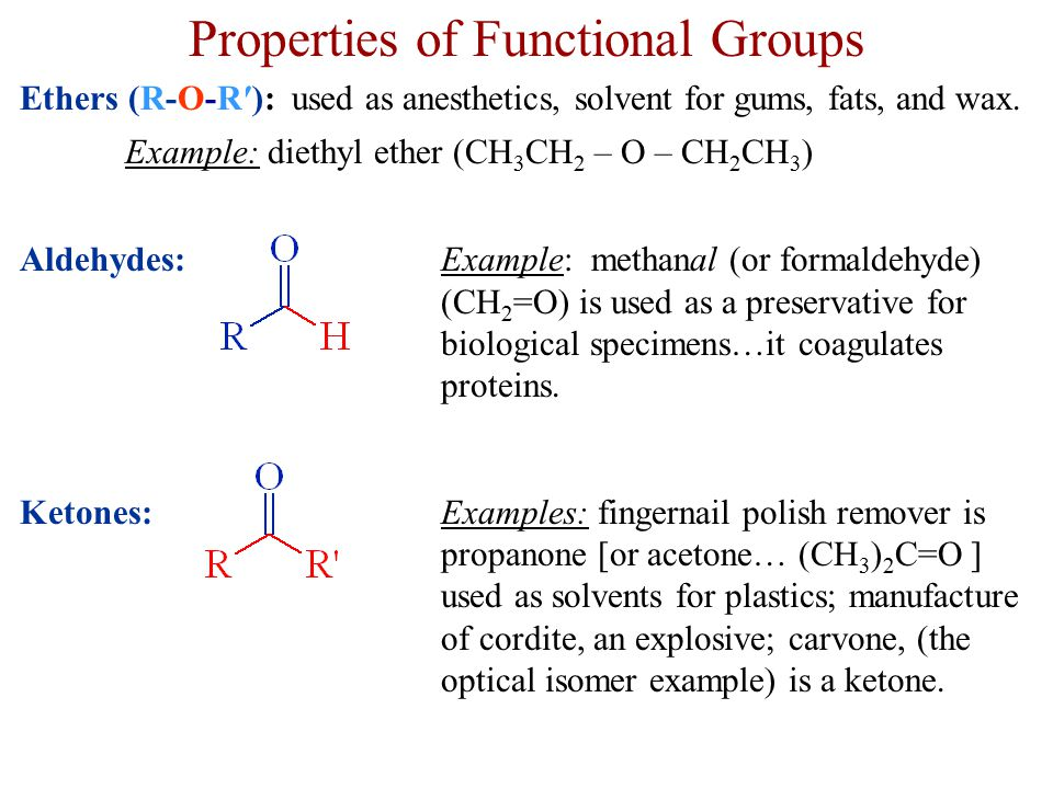 Properties of Functional Groups