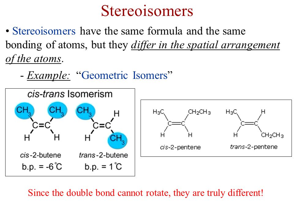 Since the double bond cannot rotate, they are truly different!