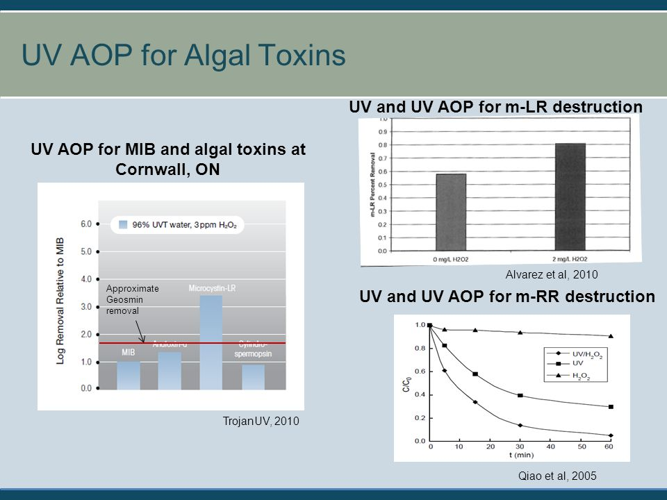 UV AOP for Algal Toxins UV and UV AOP for m-LR destruction