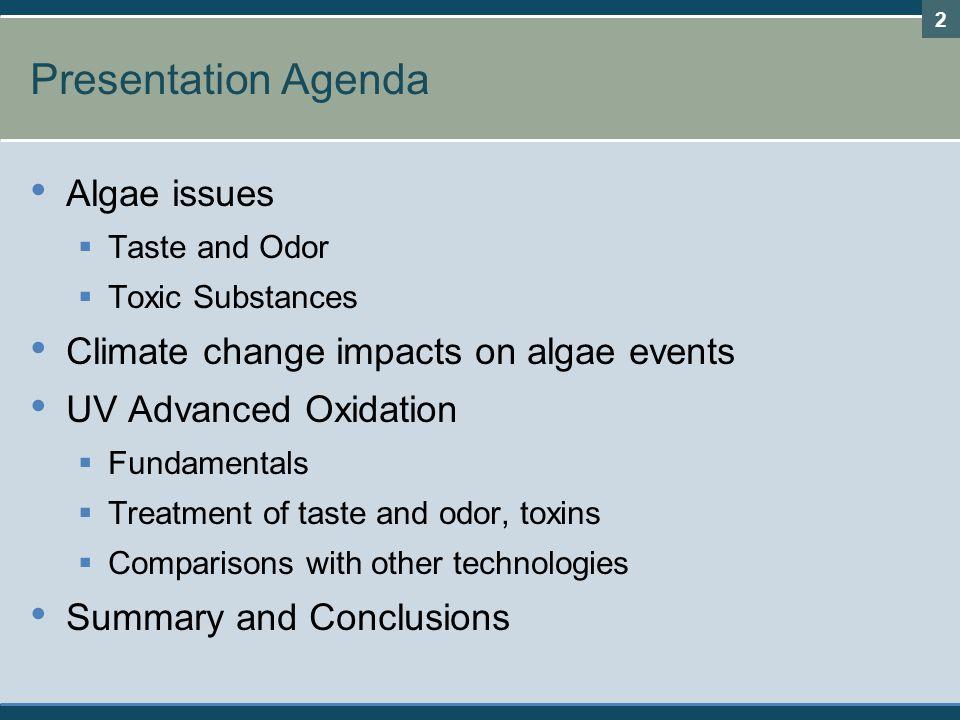 Presentation Agenda Algae issues