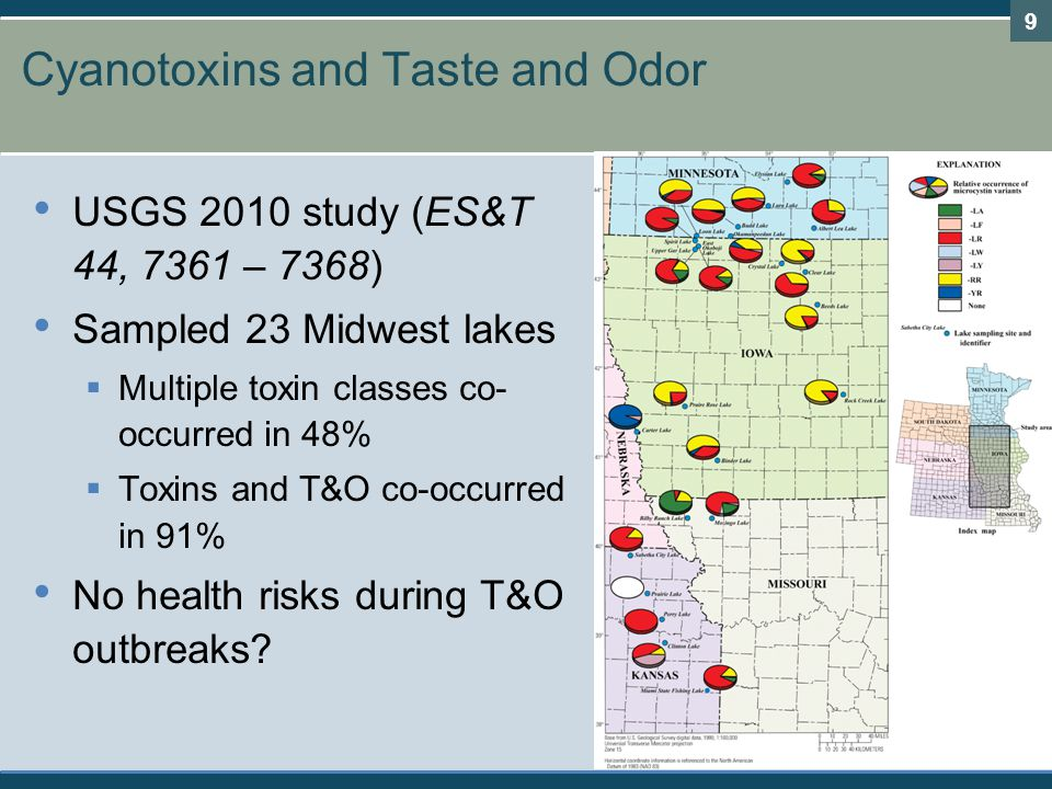 Cyanotoxins and Taste and Odor