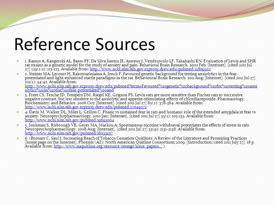 Reference Sources Laura Overdeck Bayer