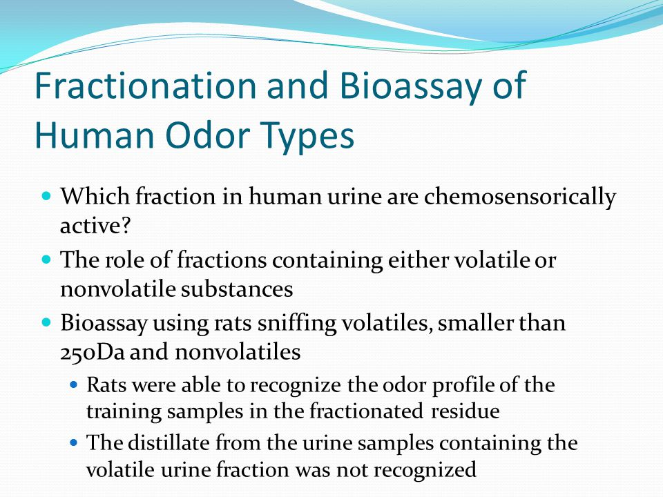 Fractionation and Bioassay of Human Odor Types