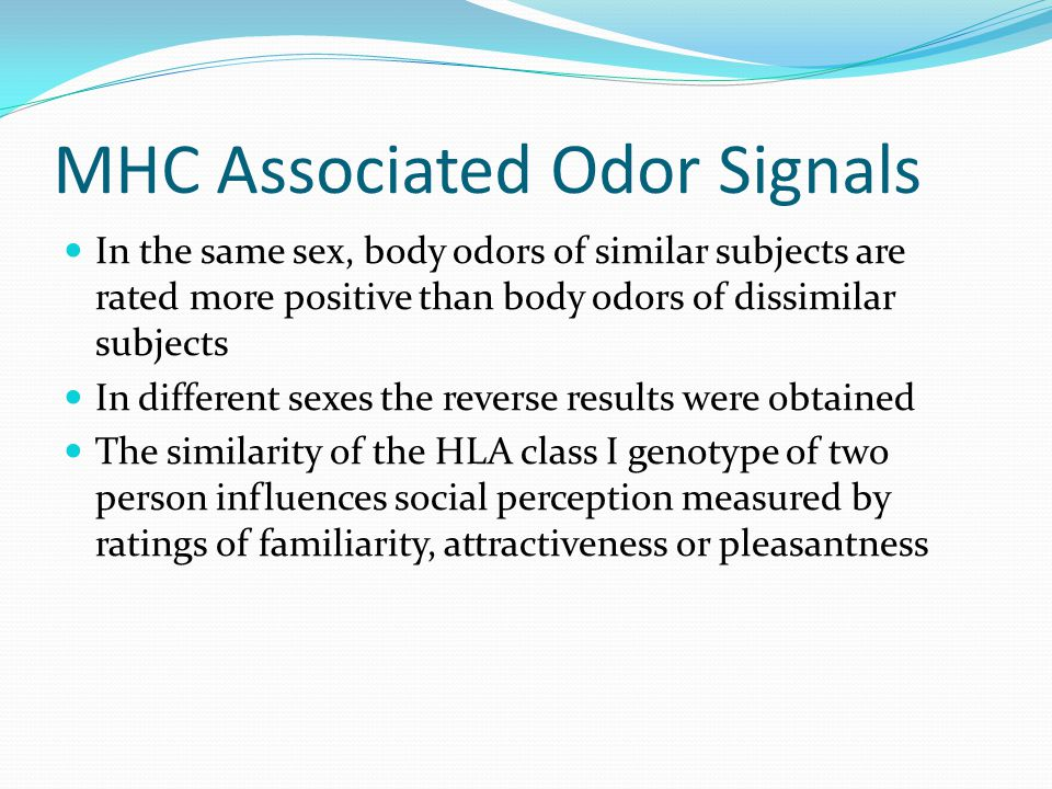 MHC Associated Odor Signals