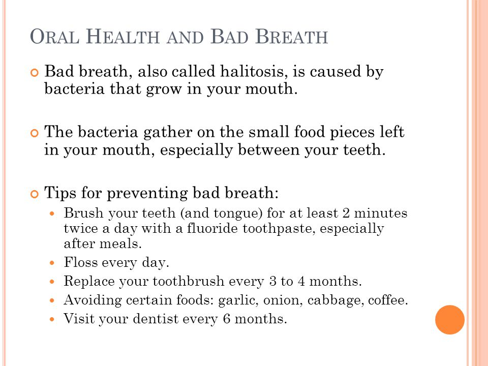 Oral Health and Bad Breath