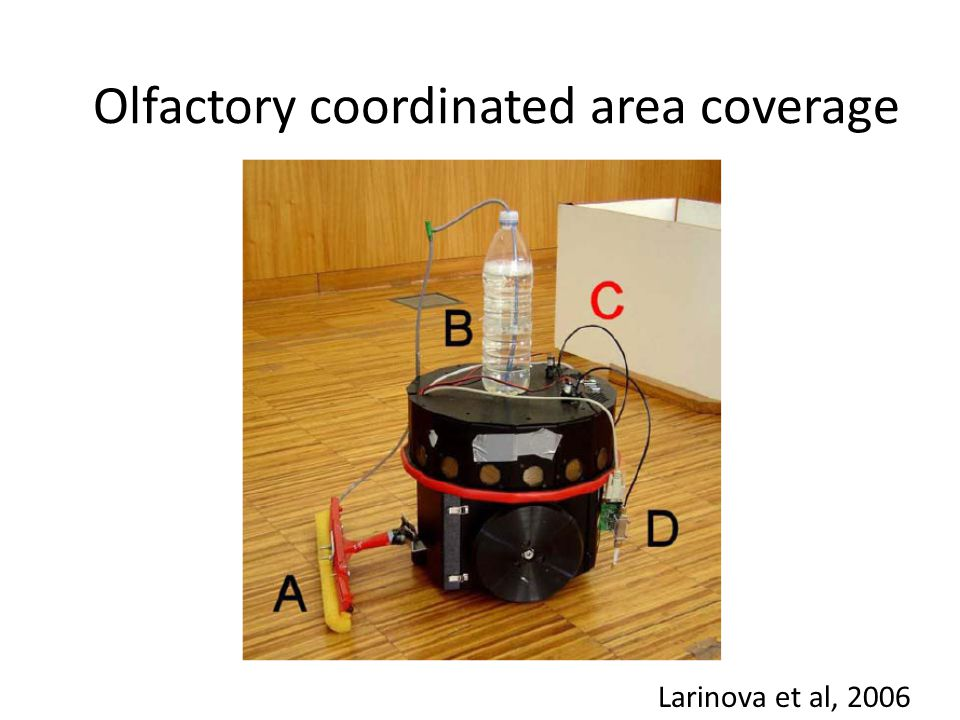 Olfactory coordinated area coverage