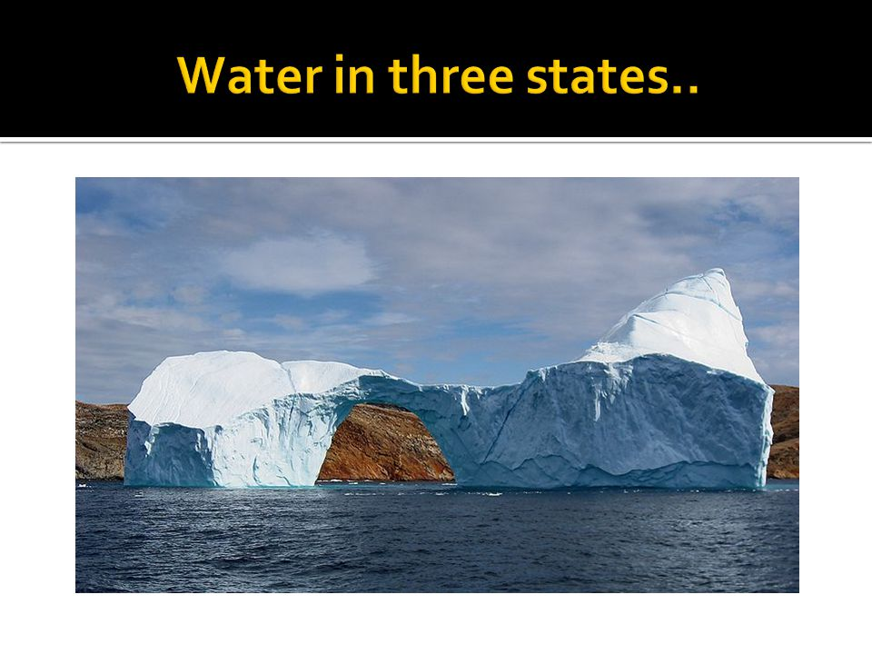 Water in three states..