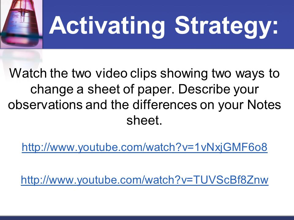 Activating Strategy: