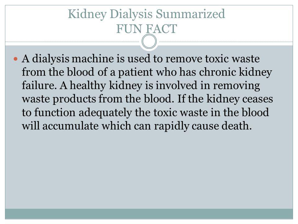Kidney Dialysis Summarized FUN FACT