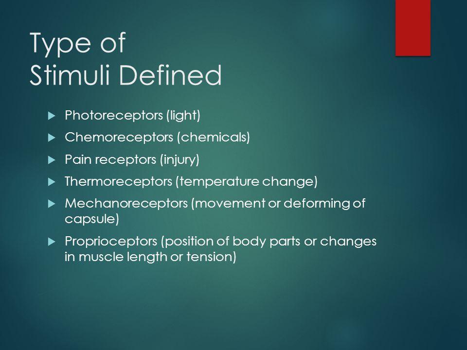 Type of Stimuli Defined