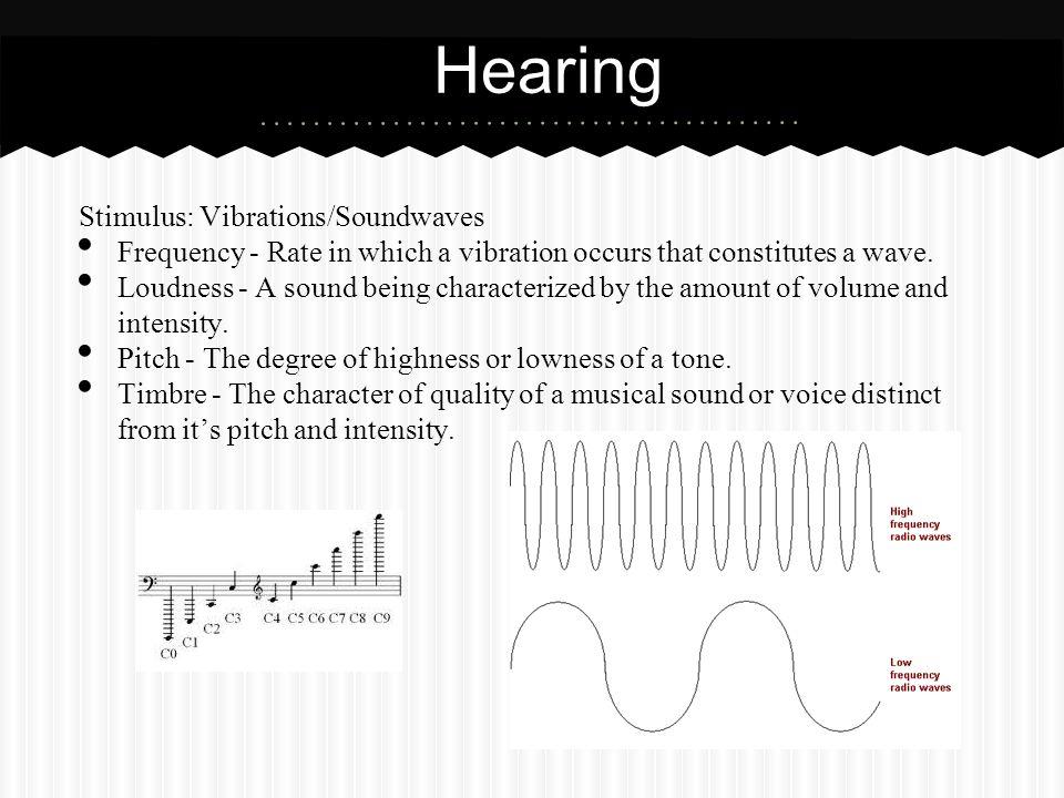 Hearing Stimulus: Vibrations/Soundwaves