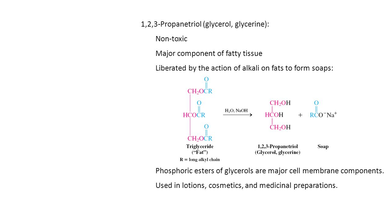 1,2,3-Propanetriol (glycerol, glycerine):