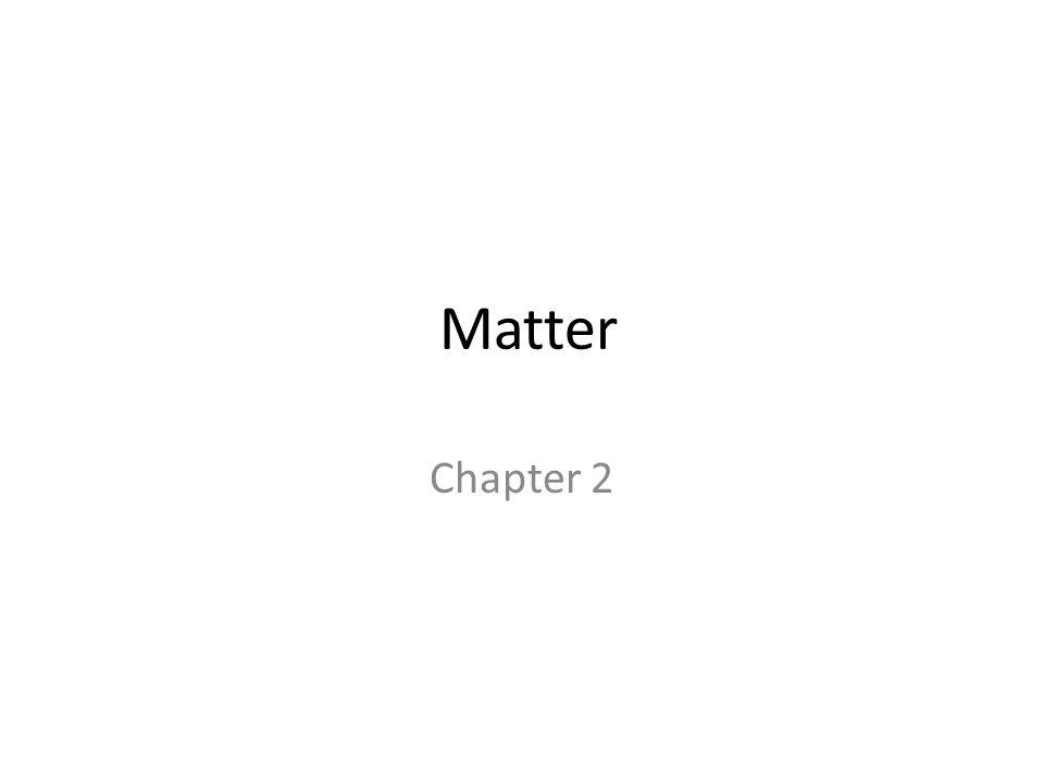 Matter Chapter 2