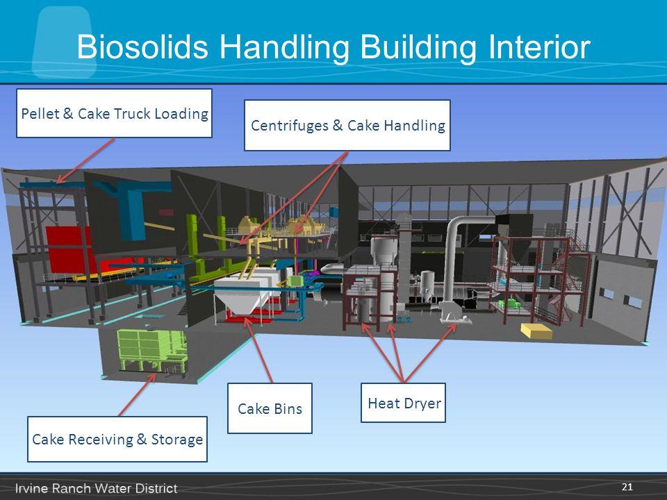 Biosolids Handling Building Interior