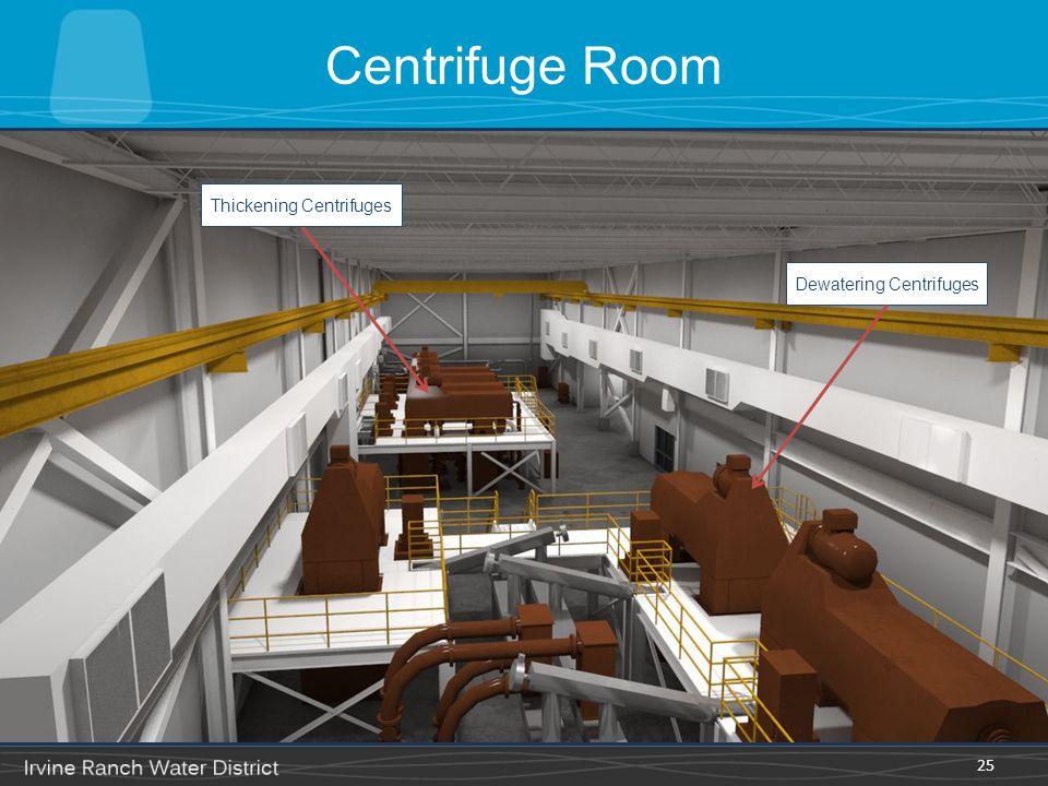 Centrifuge Room Thickening Centrifuges Dewatering Centrifuges