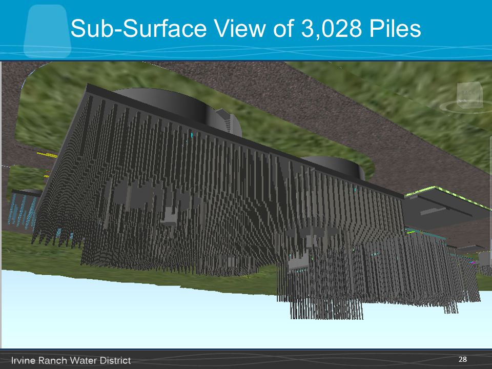 Sub-Surface View of 3,028 Piles