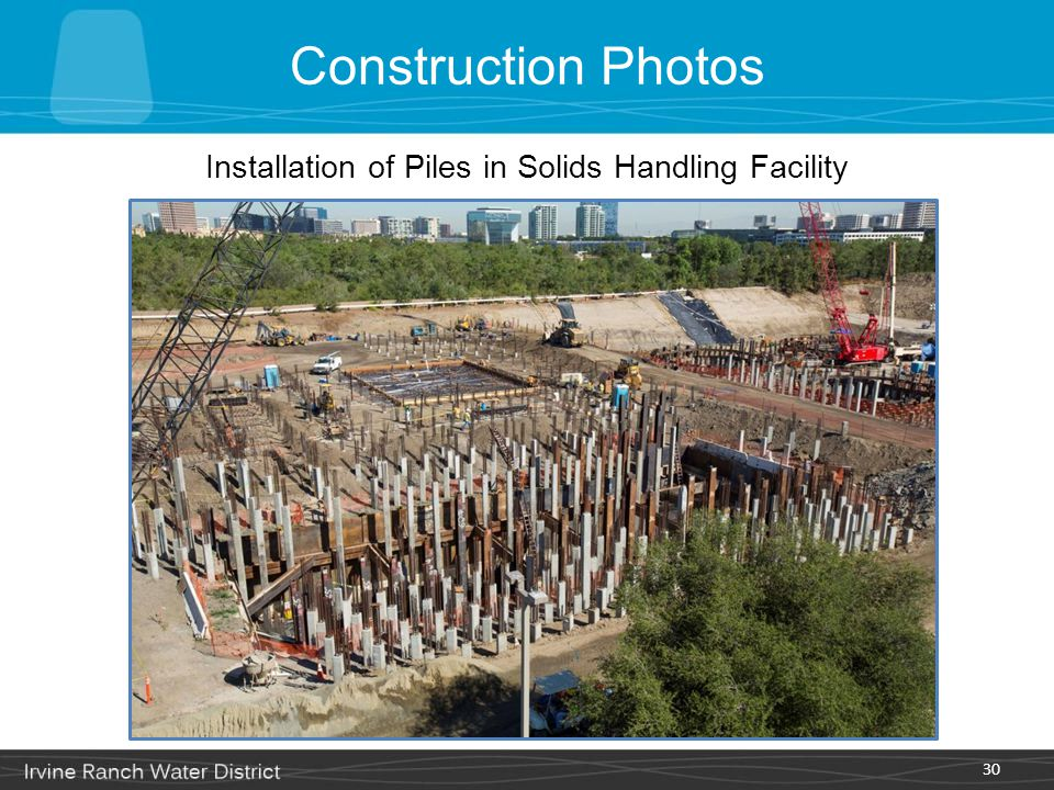 Installation of Piles in Solids Handling Facility