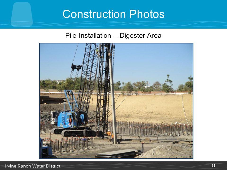 Pile Installation – Digester Area