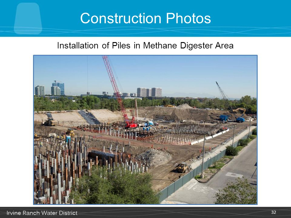 Installation of Piles in Methane Digester Area