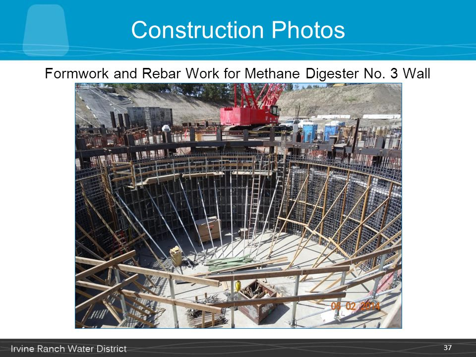Formwork and Rebar Work for Methane Digester No. 3 Wall