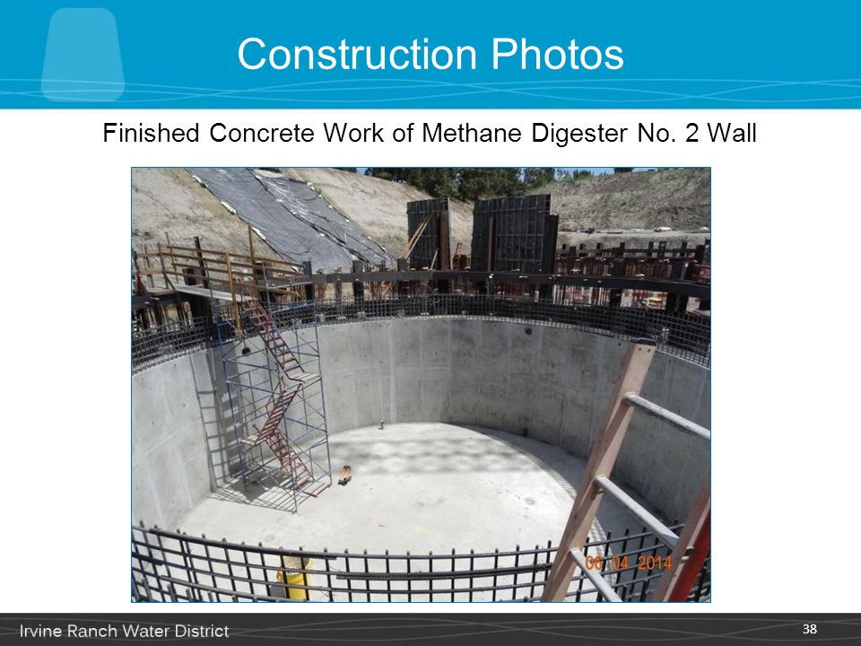 Finished Concrete Work of Methane Digester No. 2 Wall