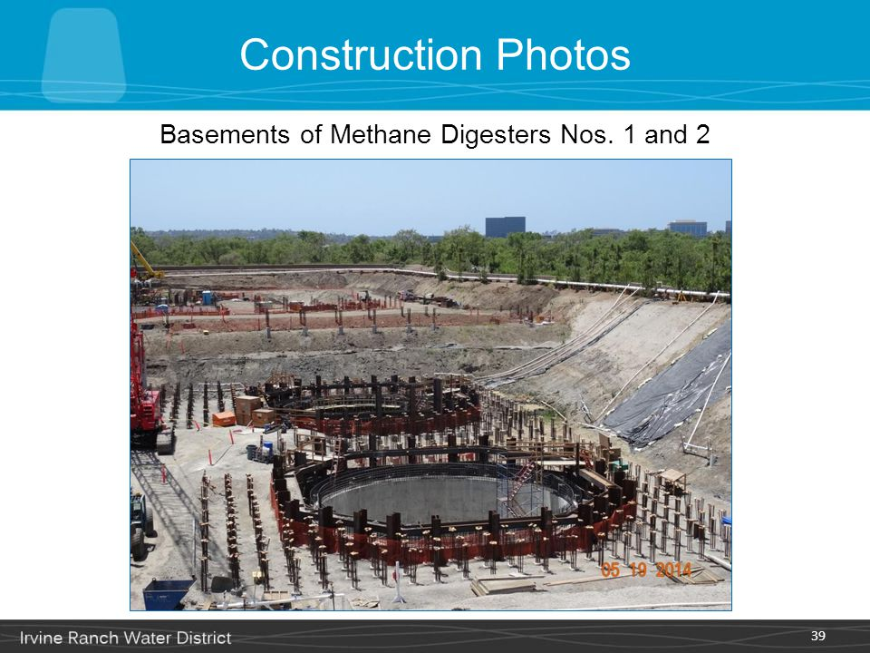 Basements of Methane Digesters Nos. 1 and 2