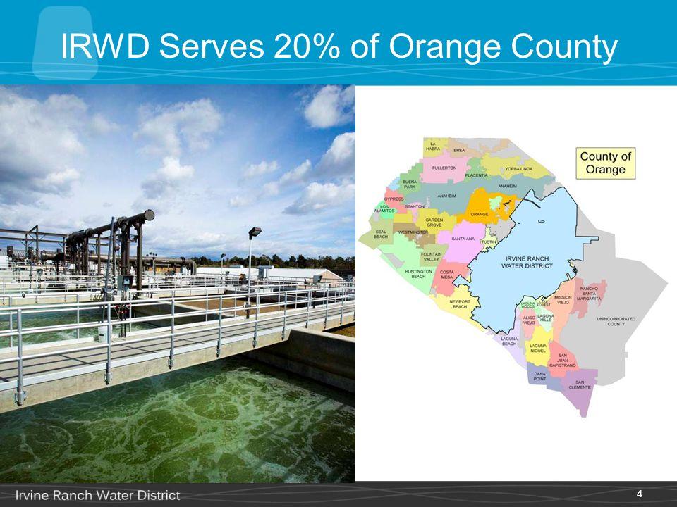 IRWD Serves 20% of Orange County