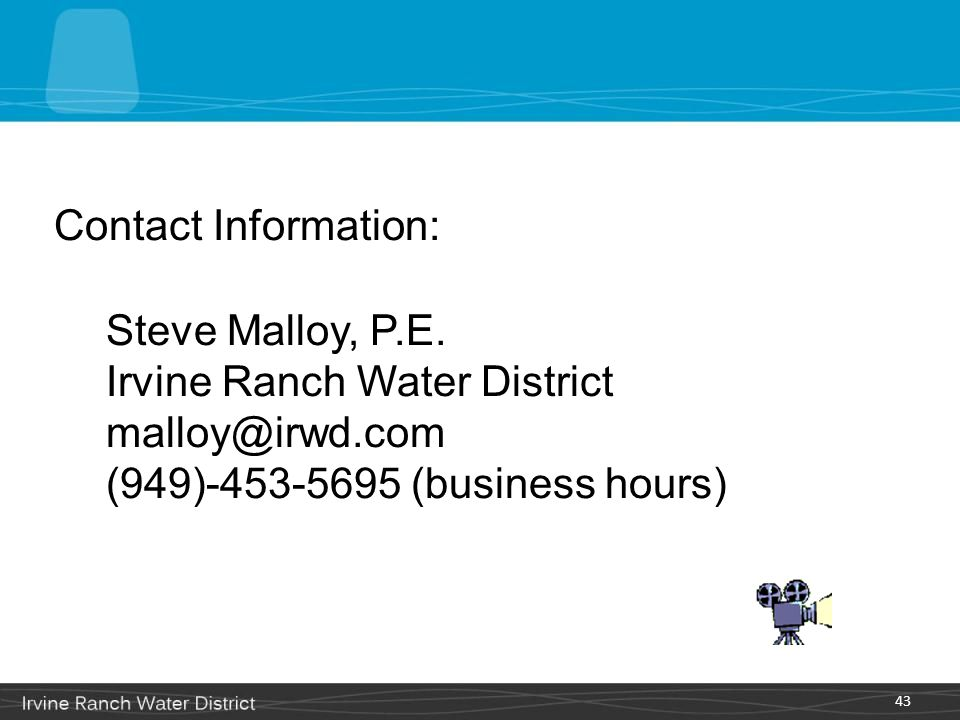 Contact Information: Steve Malloy, P.E.