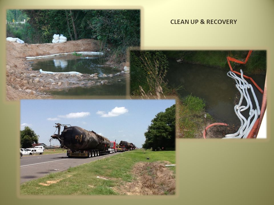 CLEAN UP & RECOVERY