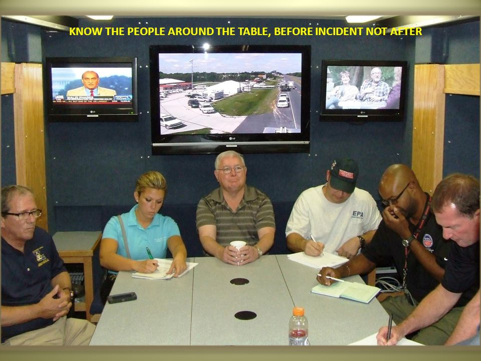 KNOW THE PEOPLE AROUND THE TABLE, BEFORE INCIDENT NOT AFTER