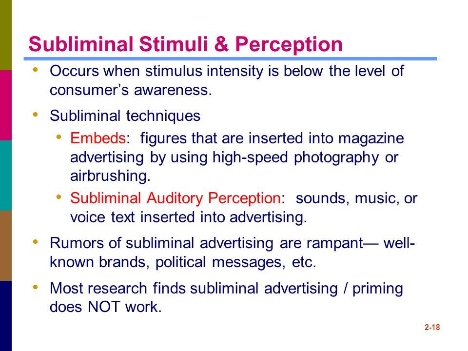Subliminal Stimuli & Perception