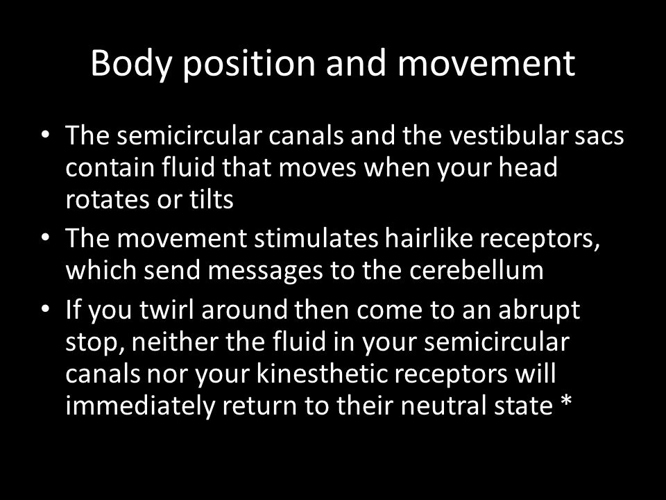 Body position and movement