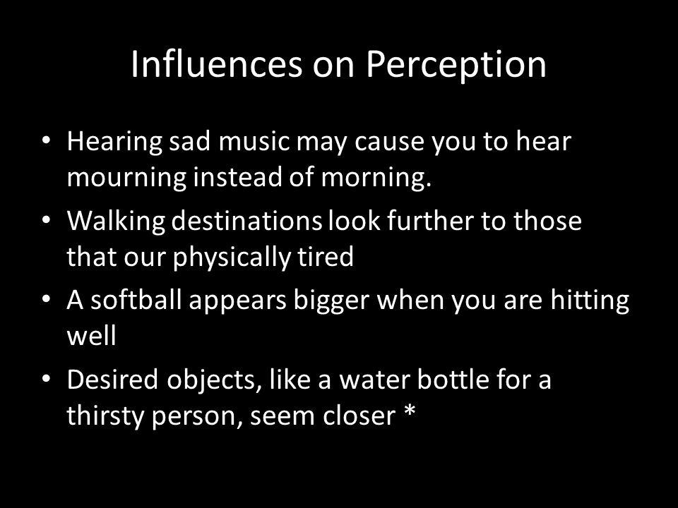 Influences on Perception