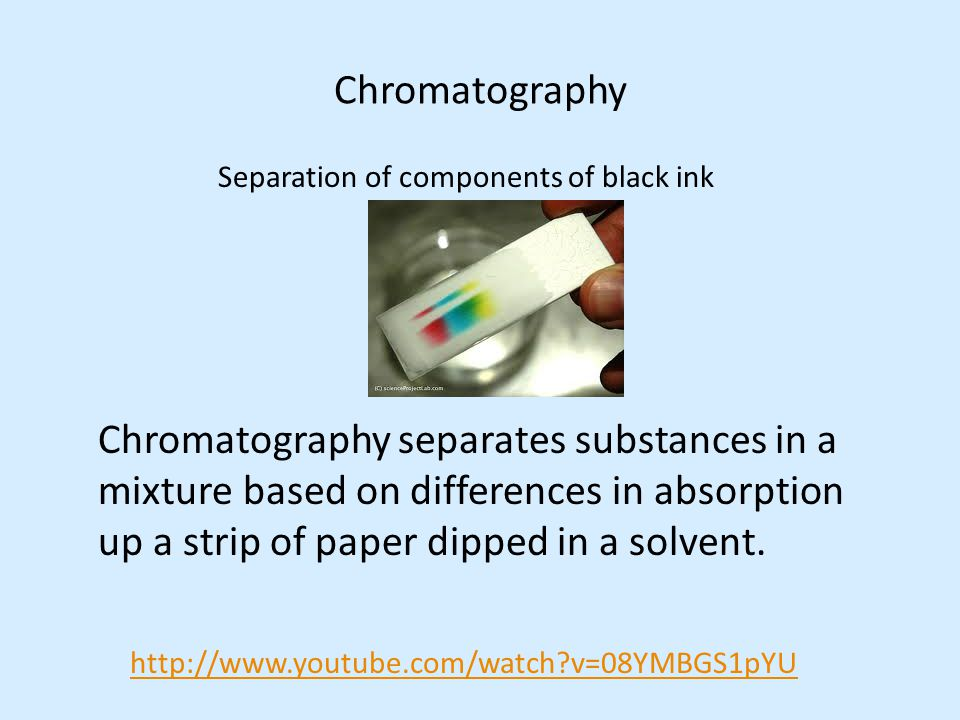 Separation Of A Dye Mixture Using Chromatography Essay Sample