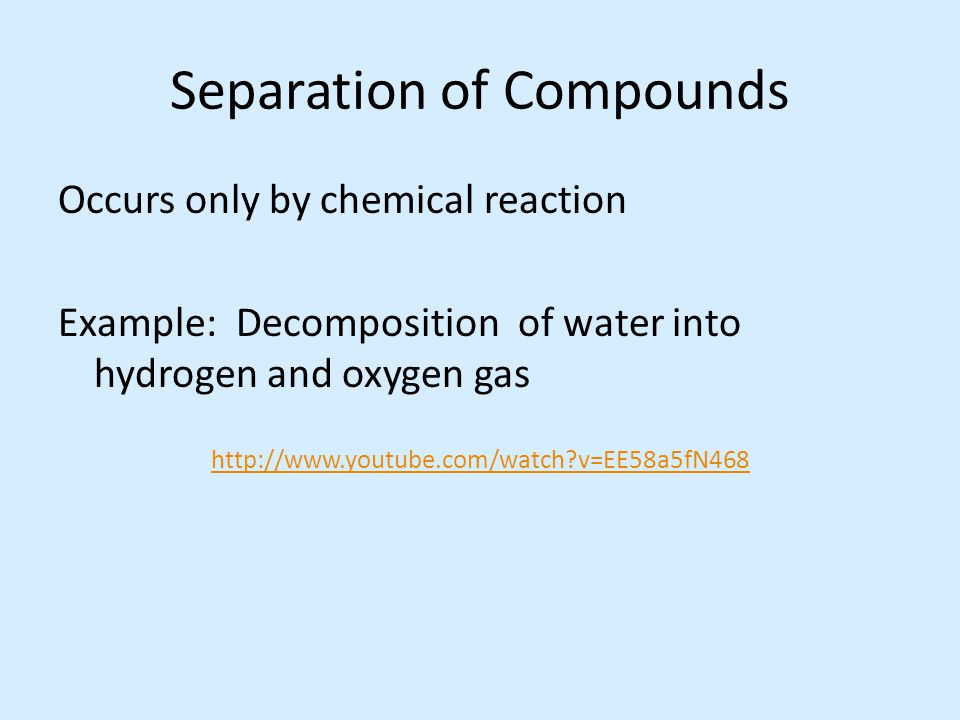 Separation of Compounds