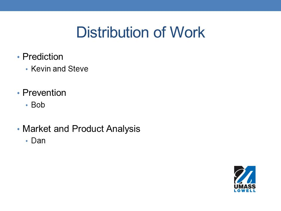 Distribution of Work Prediction Prevention Market and Product Analysis