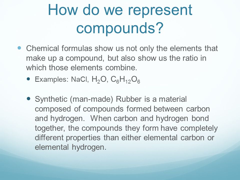 How do we represent compounds