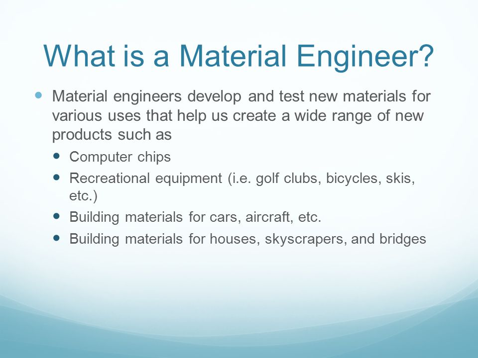 What is a Material Engineer