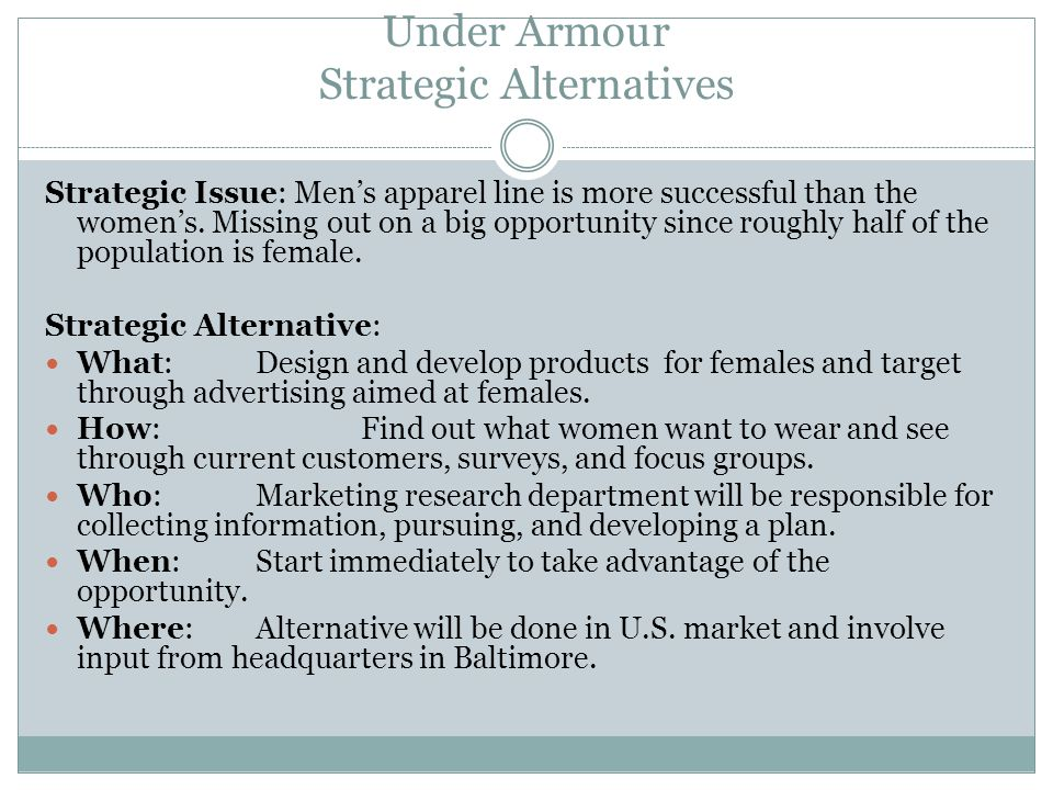 Under Armour Strategic Alternatives